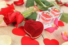 Valentine's Day flower stock images