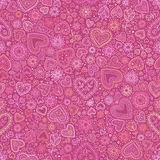 Valentine's day artistic seamless background Royalty Free Stock Photos