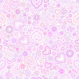 Valentine's day artistic seamless background Royalty Free Stock Photo
