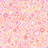 Valentine's day artistic seamless background Stock Photos