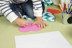 Valentine's Day Arts and Crafts Activity, Heart Stock Image