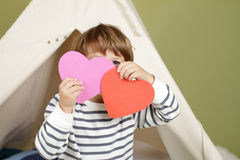 Valentine's Day Arts and Crafts Activity, Heart Royalty Free Stock Photos