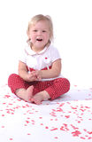 Valentine's Day Baby Girl Royalty Free Stock Photography
