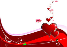 Valentine`s day background Stock Image