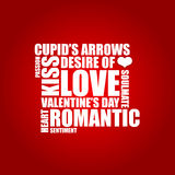 Valentine's day background. Red abstract background with love theme Stock Images