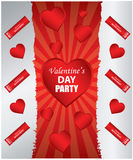 Valentine's day background. Special Valentine's day background with heart Stock Photos