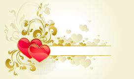 Valentine's day background. With two hearts Stock Photos