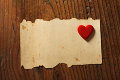 Valentine's day background. Old paper, copy space royalty free stock photo