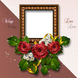 Valentine's day background. With frames for photo Royalty Free Stock Image