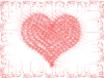 Valentine's day background. Red dots Royalty Free Stock Photo