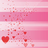 Valentine's day background. Valentine's day - linear background with love hearts Stock Images