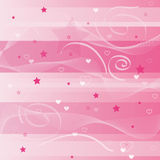 Valentine's day background. Valentine's day - linear background with love hearts and stars Stock Photos