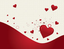 Valentine's day background. Vector illustration background with red hearts Royalty Free Stock Images