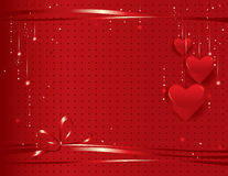 Valentine's day background. Vector illustration- festive background with red hearts Royalty Free Stock Images