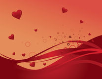 Valentine's day background. Vector illustration background with red hearts Royalty Free Stock Photo