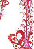 Valentine's day background. Abstract valentine's day background with heart shapes stock illustration