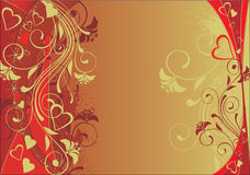 Valentine's day background. In golden palette Royalty Free Stock Photos