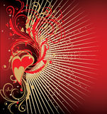 Valentine's Day background. With heart-shapes stock illustration