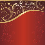 Valentine's day background. With butterflies Stock Image