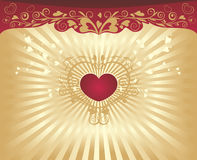 Valentine's day background. With heart-shapes royalty free illustration