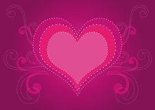Valentine's Day Background. With hearts elements for your design Stock Image