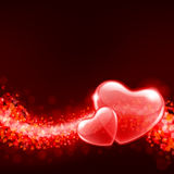 Valentine's day background with abstract he. Valentine's day vector background with abstract hearts Royalty Free Stock Photography