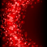 Valentine's day background with abstract he Royalty Free Stock Photo