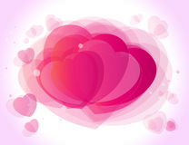 Valentines day background. Abstract pink background of stylized hearts valentines day Royalty Free Stock Photos