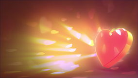 Valentine's day background. Beautiful 3d animation, loop-able stock footage