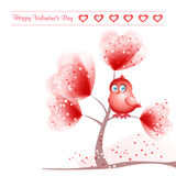 Valentine`s Day background with bird Stock Photography