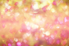 Valentine`s day background. blurred bokeh with hearts bokeh style. copy space for adding your text or use for background. Royalty Free Stock Image