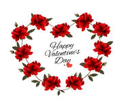 Valentine's Day background with a bouquet of red roses. Royalty Free Stock Photos
