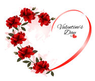 Valentine's Day background with a bouquet of red roses Royalty Free Stock Image