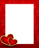Valentines day background with card Stock Photography