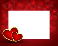 Valentines day background with card Royalty Free Stock Images