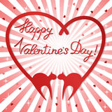 Valentine's day background with cats Royalty Free Stock Photo