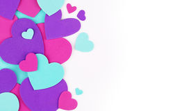 Valentine's Day background. Colorful hearts Royalty Free Stock Images