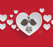 Valentine's day background with couple bird Stock Images