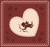 Valentine\'s Day background with cupid Stock Photos