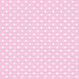 Valentine`s day background with cute arrow and heart on pink background Stock Photo