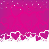Valentine's Day Background Design. A Valentine's Day background design with random hearts Stock Photography