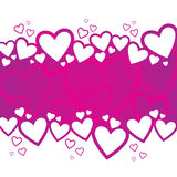 Valentine's Day Background Design. A Valentine's Day background design with random hearts Stock Photos