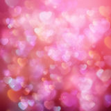 Valentine s day background. EPS 10. Glittery lights red Valentine s day background from hearts. EPS 10 vector file included stock illustration
