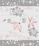 Valentine's day background with flower on grey Royalty Free Stock Images
