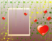 Valentine's day background with with framework Stock Photos