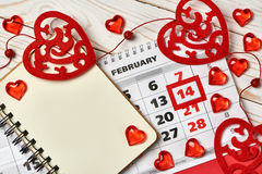 Valentine's day background. Free space for text. Royalty Free Stock Images