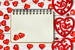 Valentine's day background. Free space for text. Stock Photography