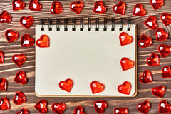 Valentine's day background. Free space for text. Stock Images