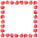 Valentine`s day background with funny hearts. On white Stock Photo