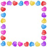Valentine`s day background with funny hearts. On white background Royalty Free Stock Photos
